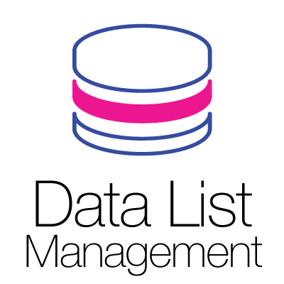 Marketing Data List Management Icon